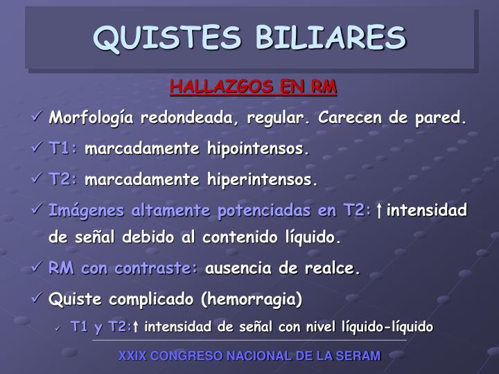 QUISTES BILIARES
