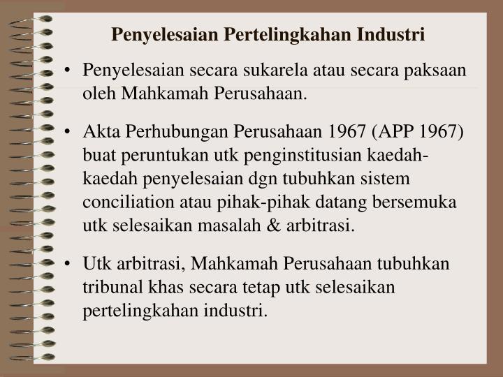 Penyelesaian Pertelingkahan Industri