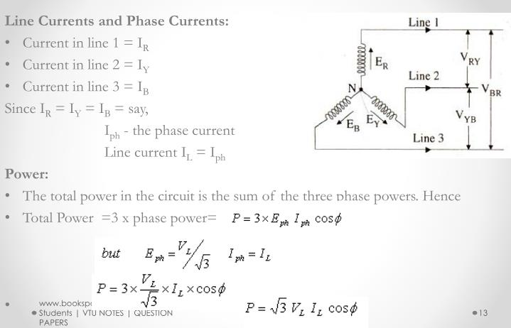 Line Currents and Phase Currents: