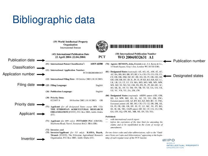 Bibliographic data