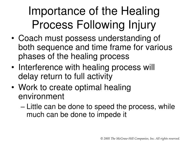 Importance of the Healing Process Following Injury