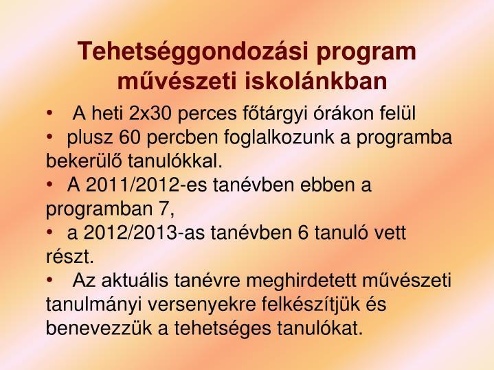 Tehetséggondozási program