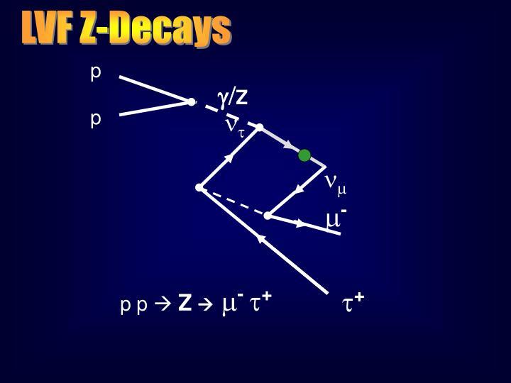 LVF Z-Decays