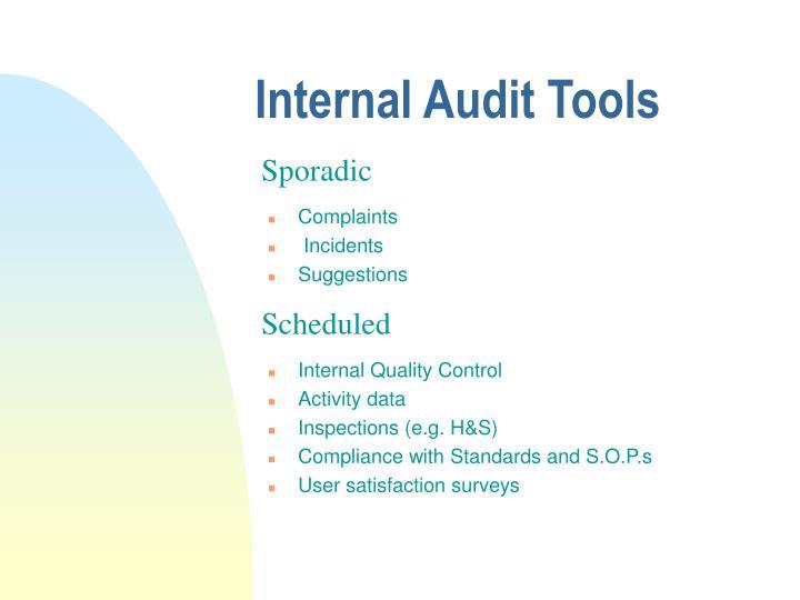Internal Audit Tools