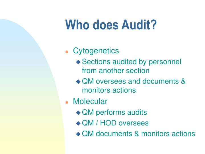 Who does Audit?