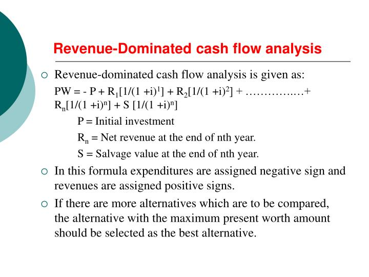 Revenue-Dominated cash flow analysis