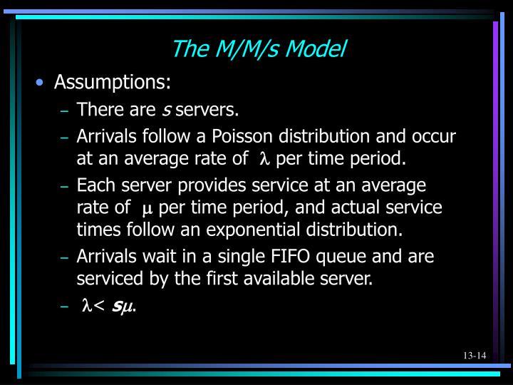 The M/M/s Model