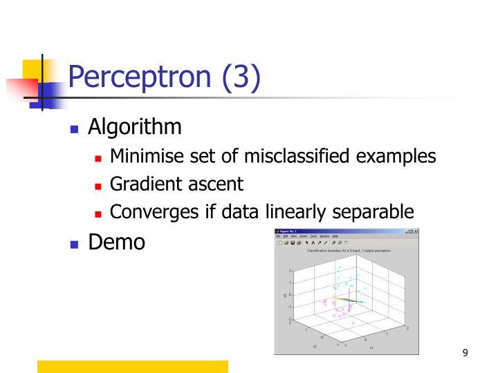 Perceptron (3)