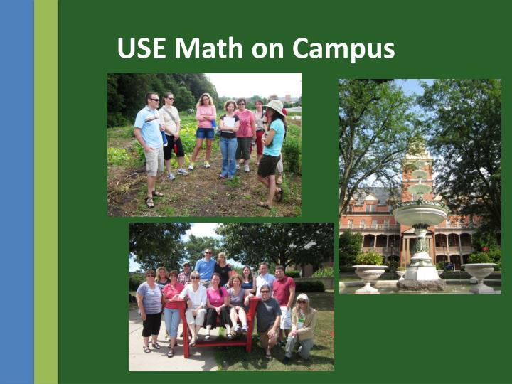 USE Math on Campus