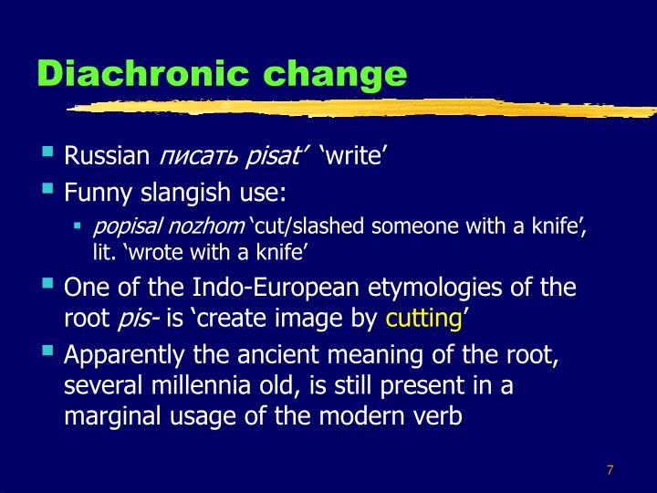 Diachronic change