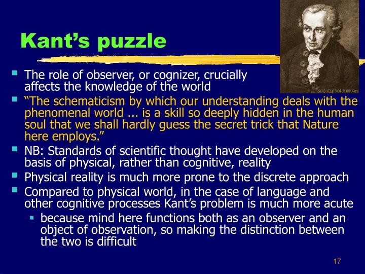 Kant's puzzle