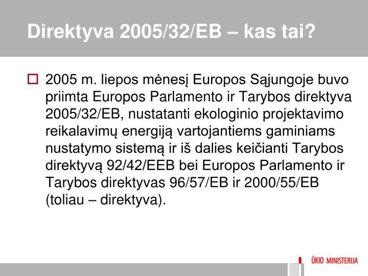 Direktyva 2005/32/EB – kas tai?