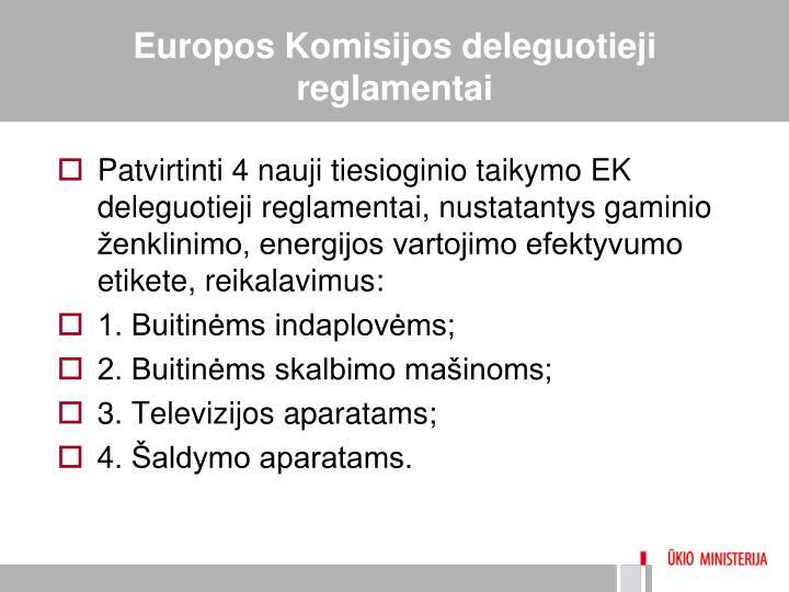 Europos Komisijos deleguotieji reglamentai