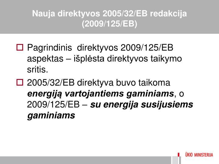 Nauja direktyvos 2005/32/EB redakcija (2009/125/EB)