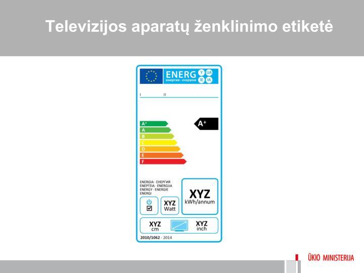 Televizijos aparatų ženklinimo etiketė