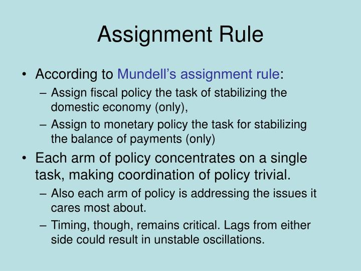 Assignment Rule