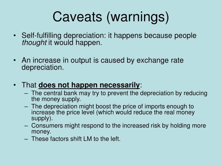 Caveats (warnings)