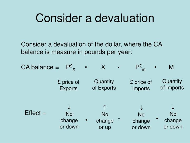 Consider a devaluation