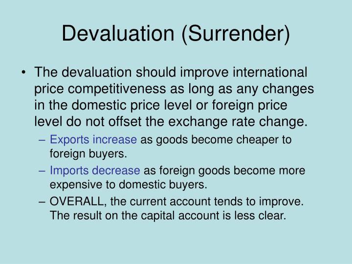 Devaluation (Surrender)