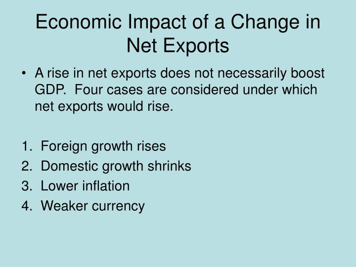 Economic Impact of a Change in Net Exports