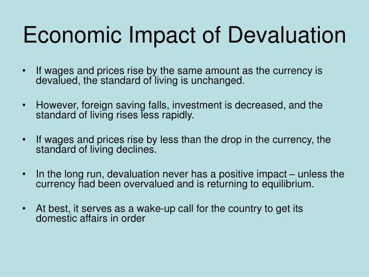 Economic Impact of Devaluation