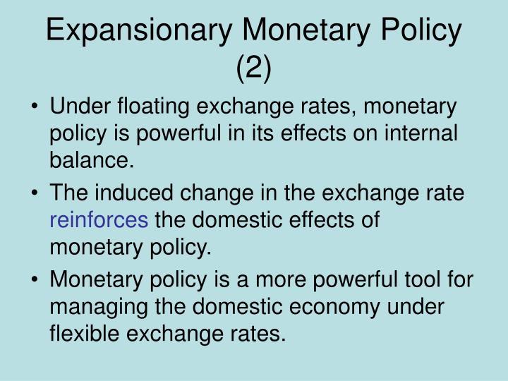 Expansionary Monetary Policy (2)