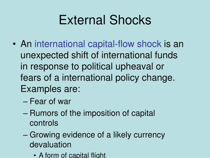 External Shocks