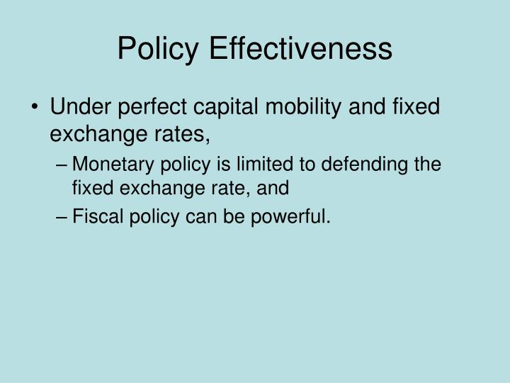 Policy Effectiveness