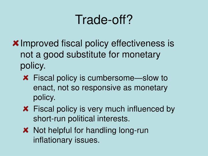 Trade-off?