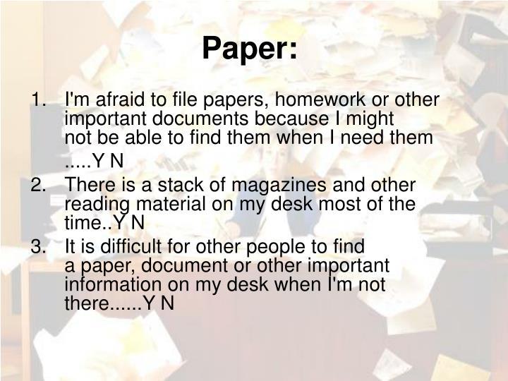 Paper: