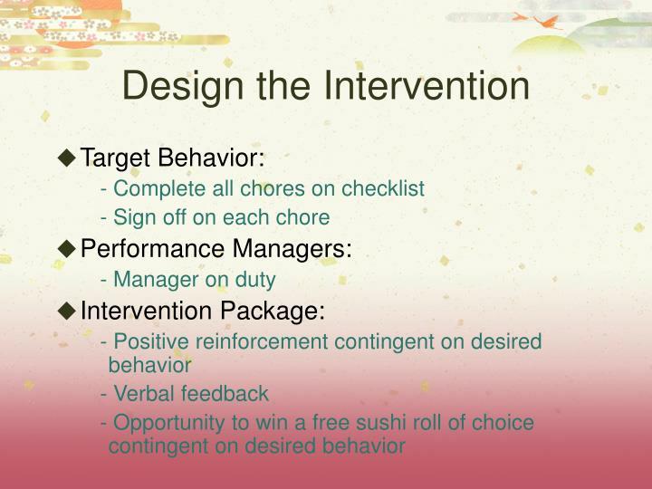 Design the Intervention