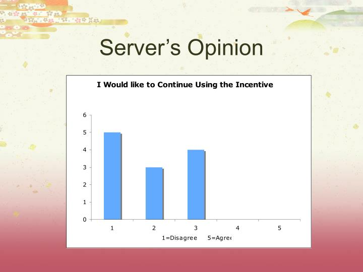 Server's Opinion