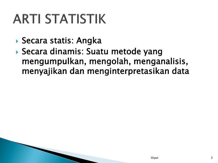 ARTI STATISTIK