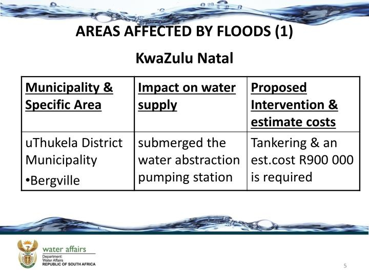 AREAS AFFECTED BY FLOODS (1)