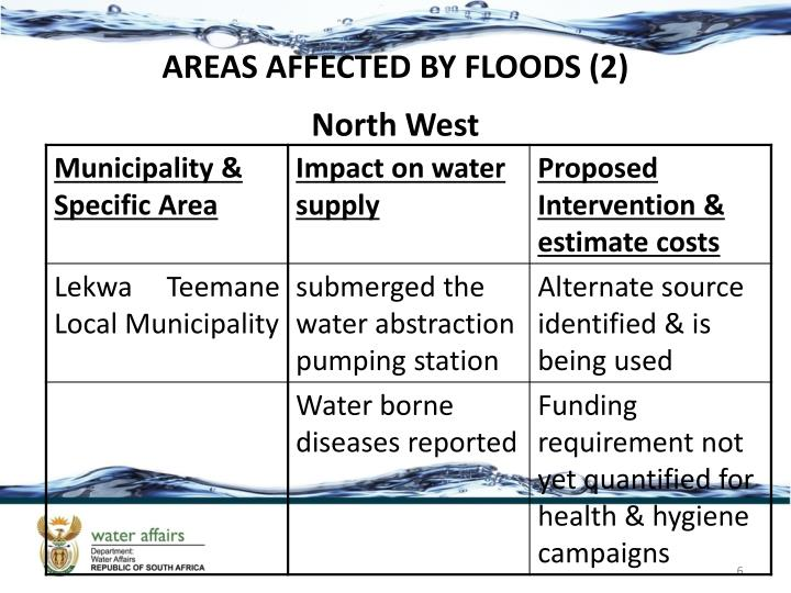 AREAS AFFECTED BY FLOODS (2)