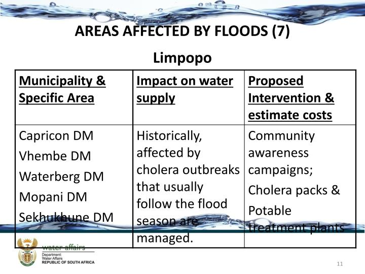 AREAS AFFECTED BY FLOODS (7)