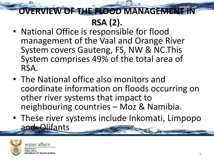 OVERVIEW OF THE FLOOD MANAGEMENT IN RSA (2).