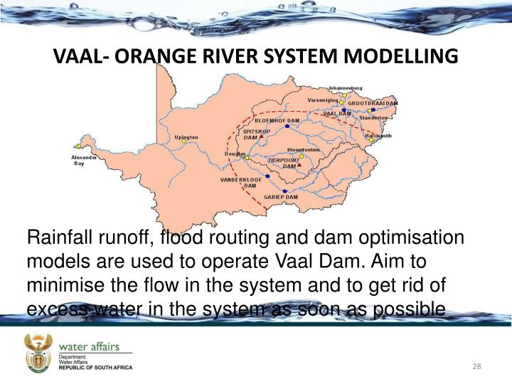 VAAL- ORANGE RIVER SYSTEM MODELLING