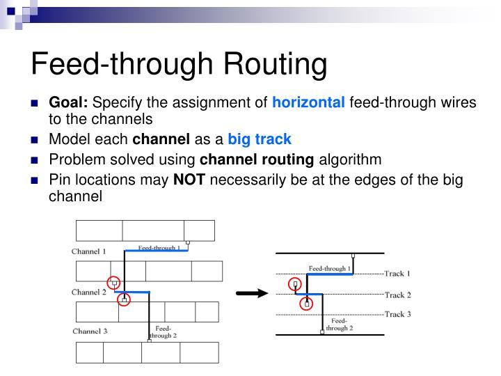 Feed-through Routing
