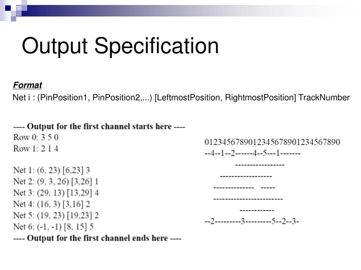 Output Specification