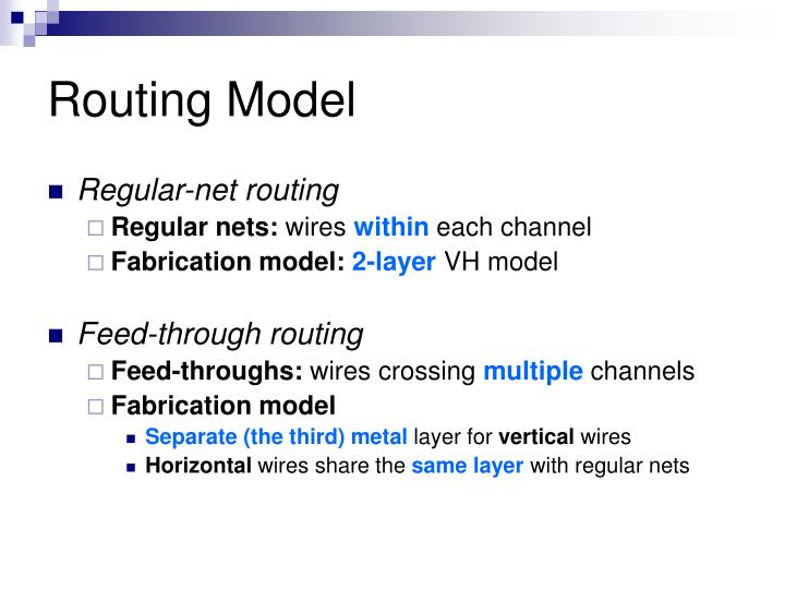 Routing model