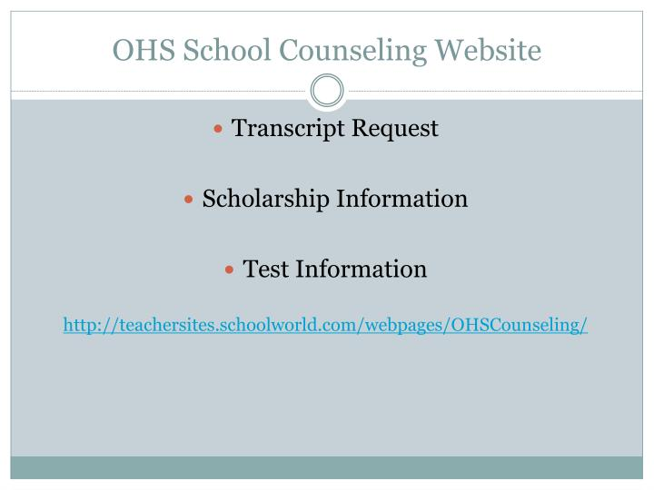 OHS School Counseling Website