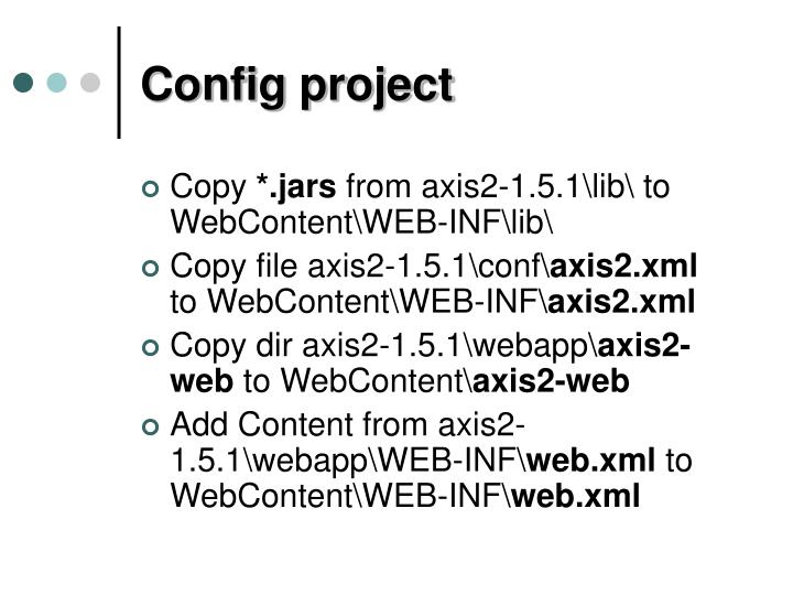 Config project