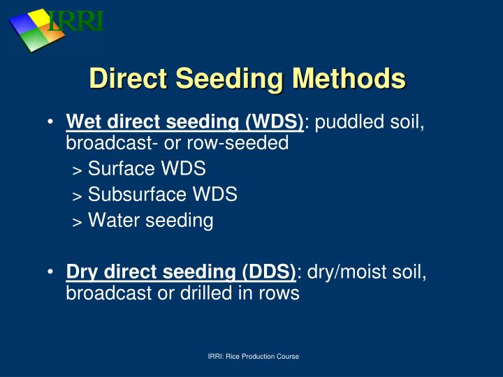 Direct Seeding Methods