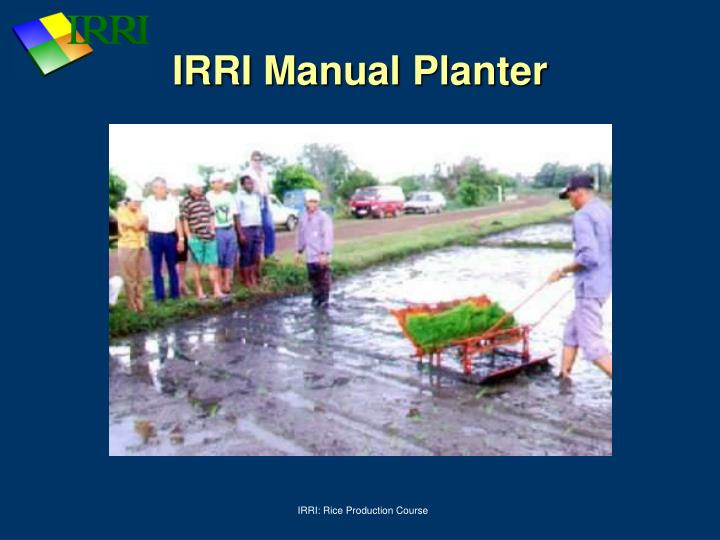 IRRI Manual Planter