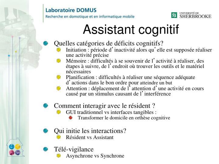 Assistant cognitif