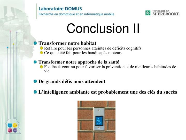 Conclusion II