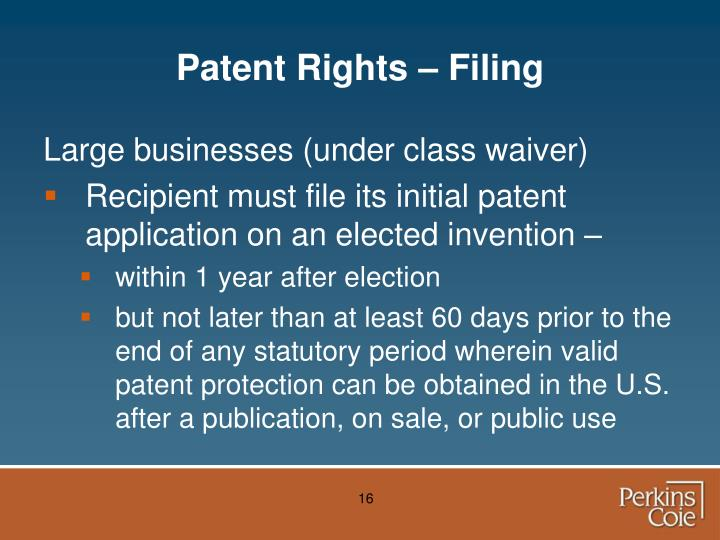 Patent Rights – Filing