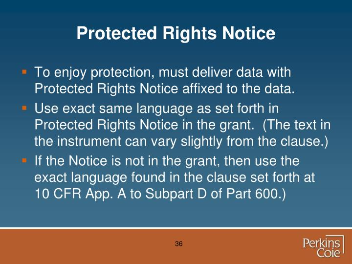 Protected Rights Notice
