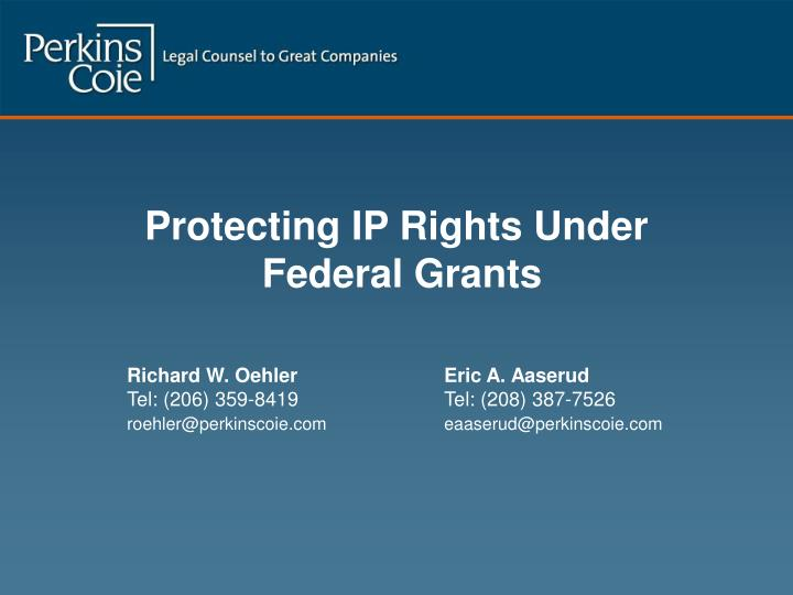 Protecting IP Rights Under